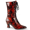 VICTORIAN-120BL Black Patent with Blood Pattern